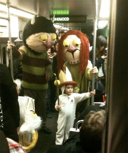 Ran Into These Guys On The Train. They Win Halloween