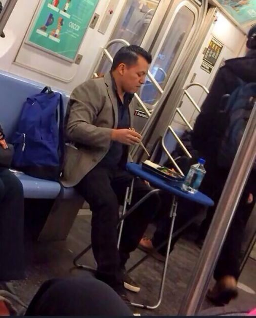 This Guy On The Subway Has Life Figured Out