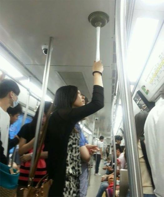 Homemade Subway Pole