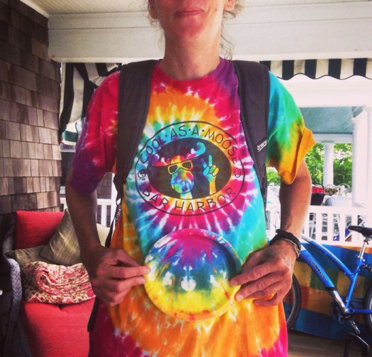 My Sister's Tie-Dye Shirt Matches The Paper Plate