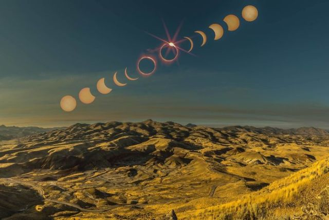 Eclips From The Painted Hills In Oregon