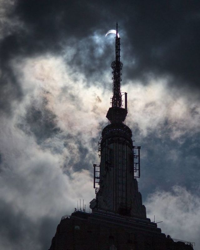 The Great American Eclipse Above The Empire State Building