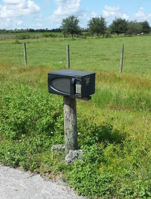 My Neighbors' Mailbox Is A Microwave