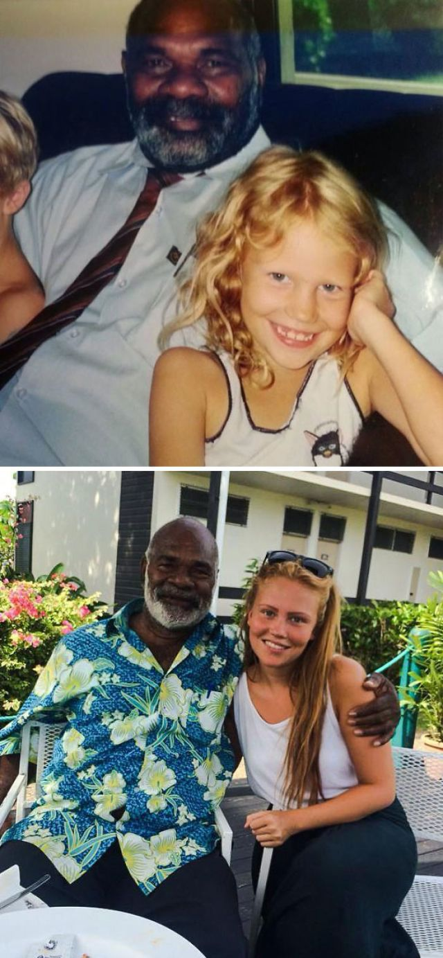 Went To Fiji catorce Years Ago. Became Really Close Friends With Fijian A Taxi Driver. Went Back To Europe And Lost Contact. Went Back To Fiji And Found That Very Same Man Last Week