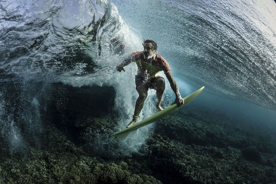Third Place Winner, People: Under The Wave, Tavarua, Fiji
