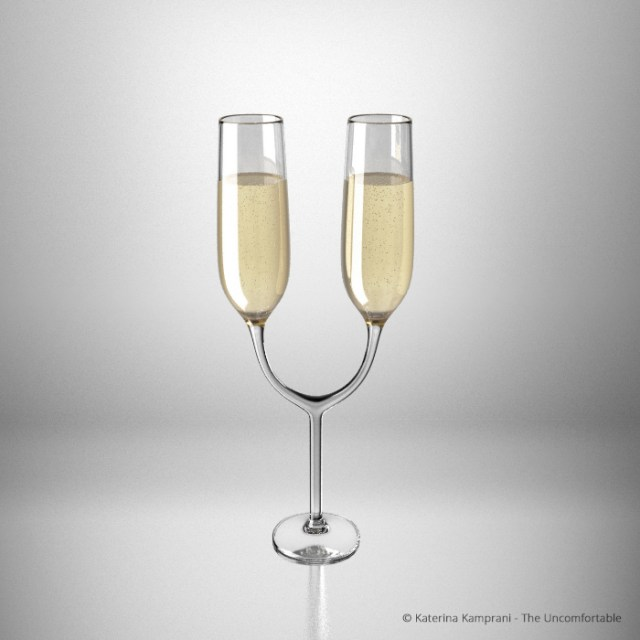 The Uncomfortable Champagne Glasses