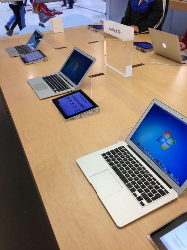 Trolleando en la tienda Apple