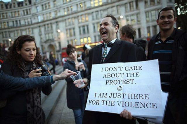 No me importa la manifestación :) Solo estoy acá por la violencia