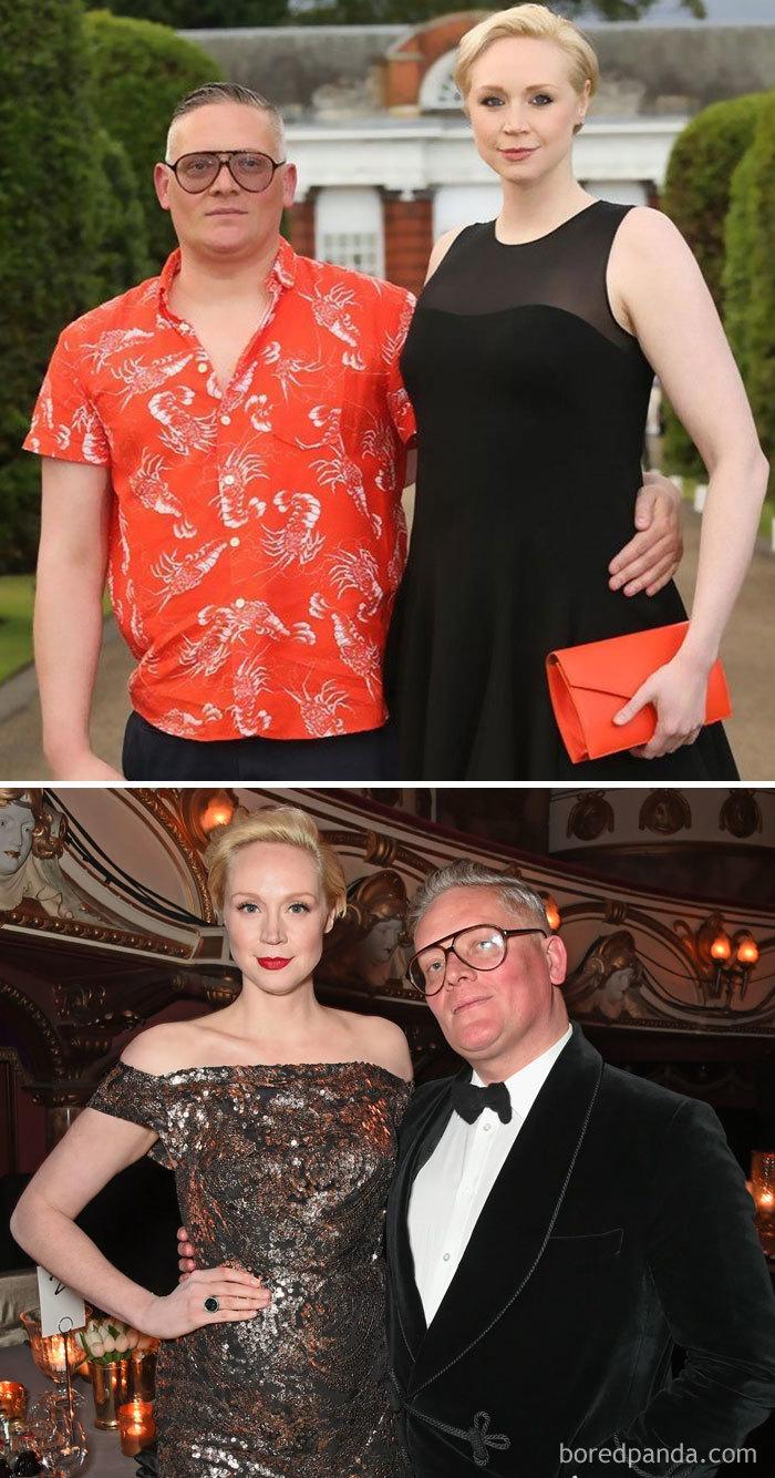 Gwendoline Christie (Brienne Of Tarth) And Fashion Designer Giles Deacon
