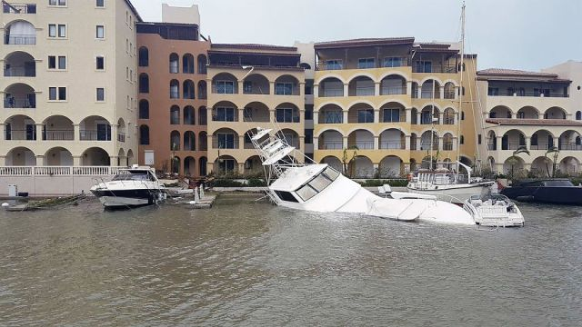 Luxury Yachts Were Destroyed And Sunk As Huge Waves Battered The Coast Of St Martin Overnight