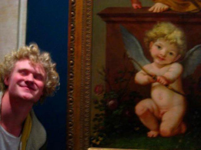 The Doppelganger From The Louvre Made Me Remember A Pic That I Took