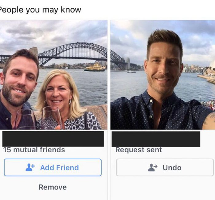 The People You May Know Section Of Facebook Put Up These Pictures That Align Perfectly With Unrelated People