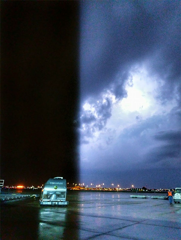 Cell Phone Picture From Friday Nights Storm. The Lighting Happened Right After The Camera Started Taking The Picture