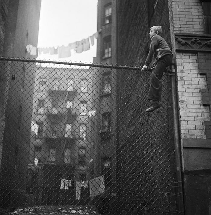 Shoe Shine Boys (On Fence), 1947