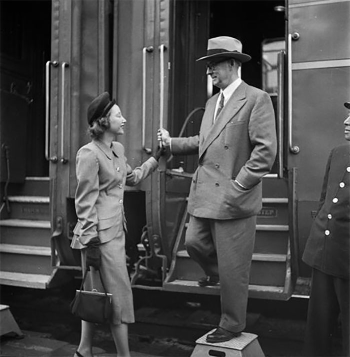 Man Exiting Train, 1948