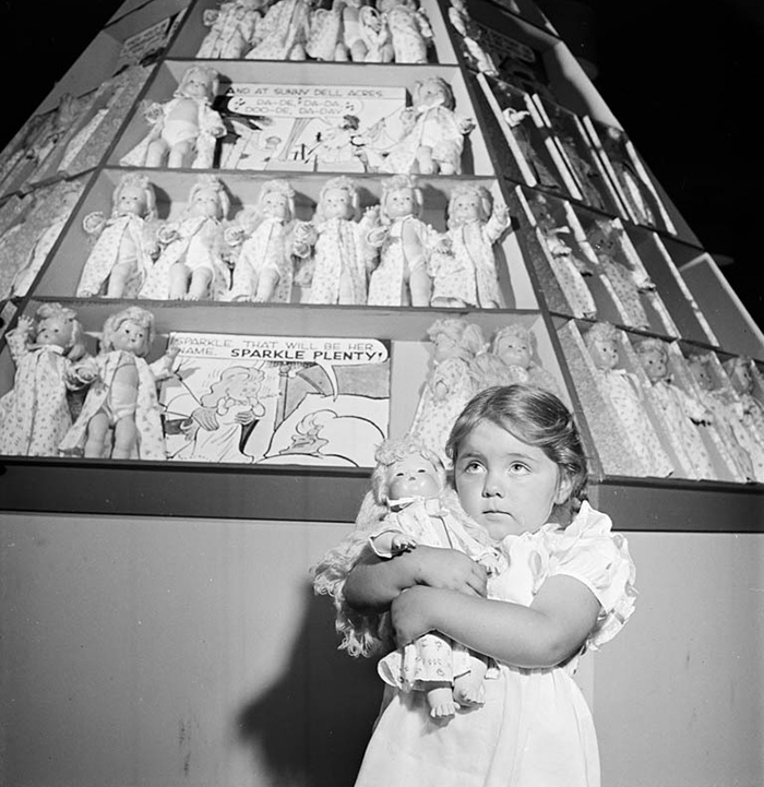Girl With Dolls, 1947