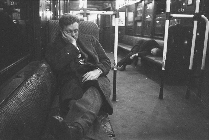 Men Sleeping In A Subway Car, 1946