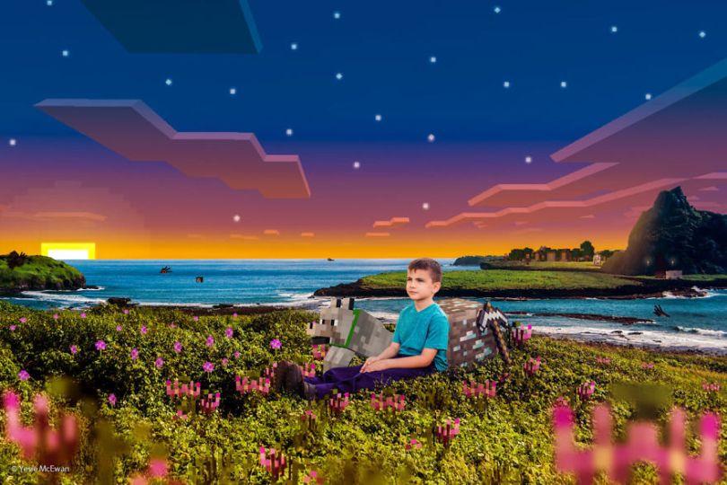 Yesie McEwan 86 59d91ad08f967  880 - Pai cria Minecraft Photo Series com os filhos