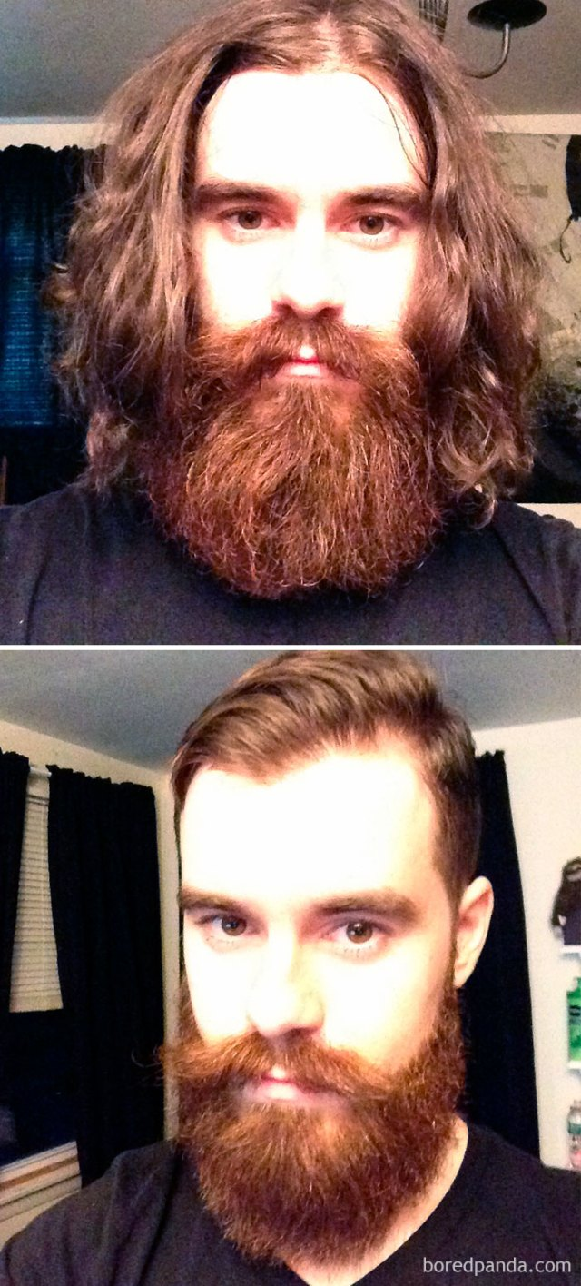 Got A Haircut And Trim From The Art Of Shaving. I Went From Converses Manson To Dapper Manson