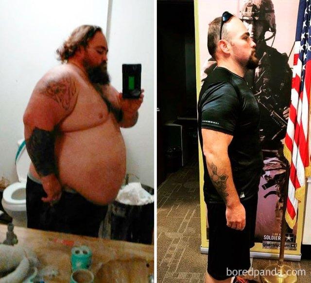 William Guinn perdió 104 kilogramos para poder unirse al ejército