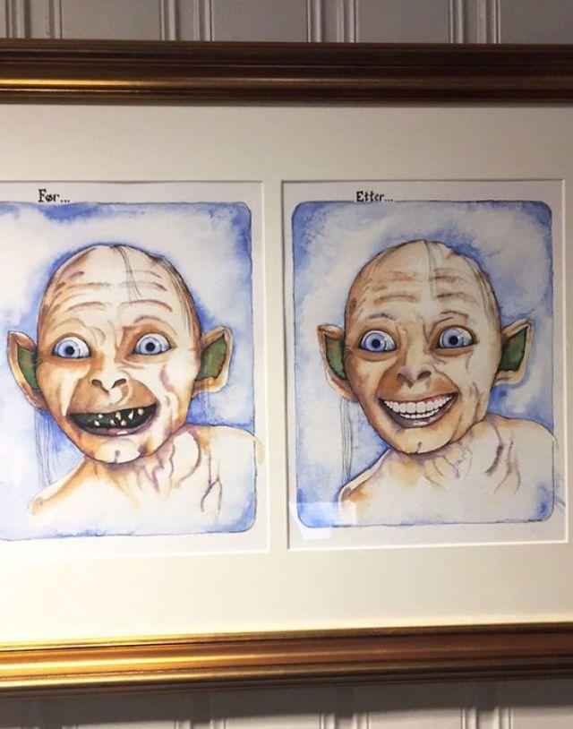 En la sala de aguarda del dentista