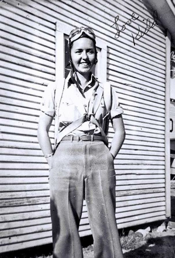 My Granny (Nicknamed Kidd) Wasn't Allowed To Join The Air Force Because She Was A Woman. So She Taught Young Men To Fly In Stephenville, Texas During WW2 - 1940s