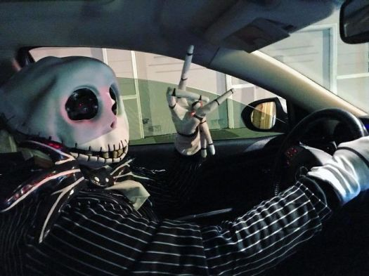 My Uber Driver Was Dressed For Halloween!