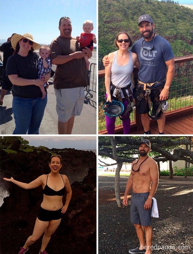 Tengo 55 años y peso 47 kilogramos menos que el año pasado. Y mi esposa, veintisiete kilogramos menos. Comemos mejor y hacemos ejercicio
