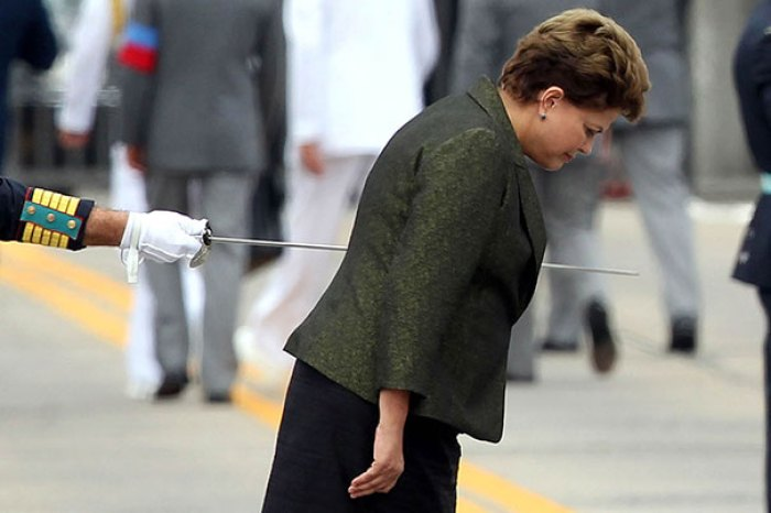 Moment When It Looks Like Dilma Rousseff Is Getting Stabbed