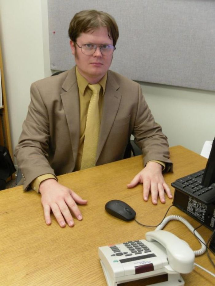 A Friend Of Mine Won A Dwight Schrute Look-Alike Contest A While Back