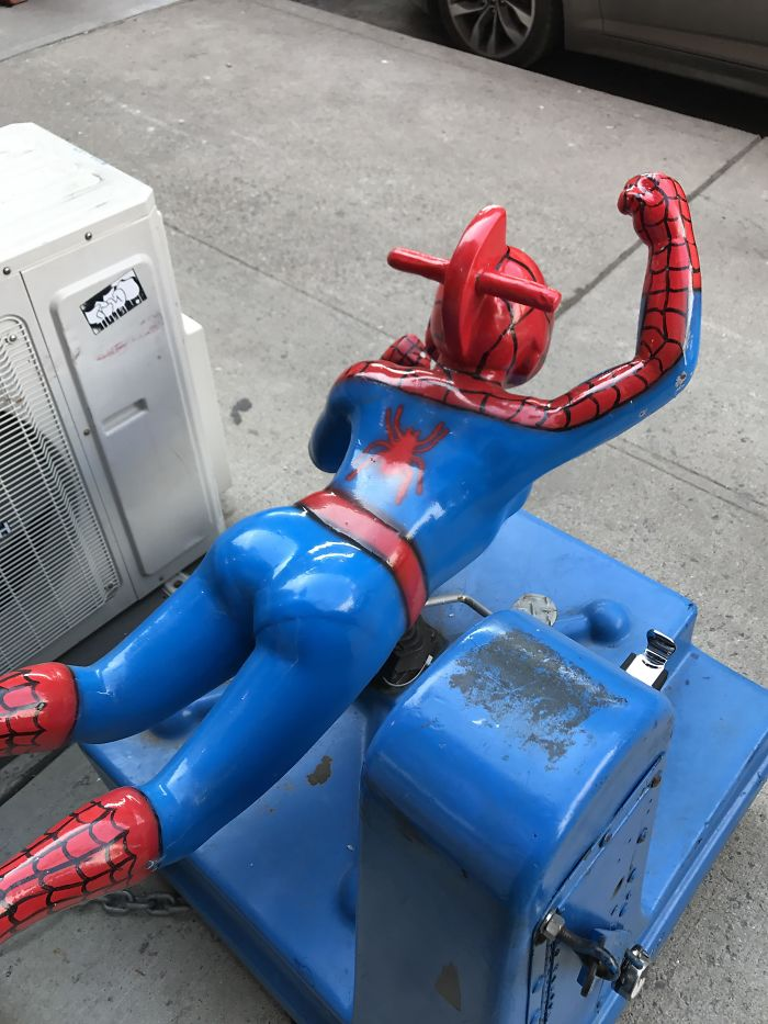 This Spiderman Children's Ride Has A Visible Panty Line