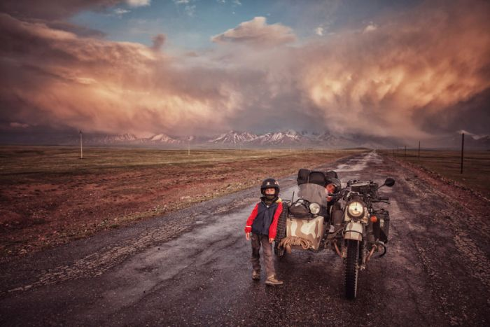 Entering Kyrgystan On A Beautiful Summer Storm