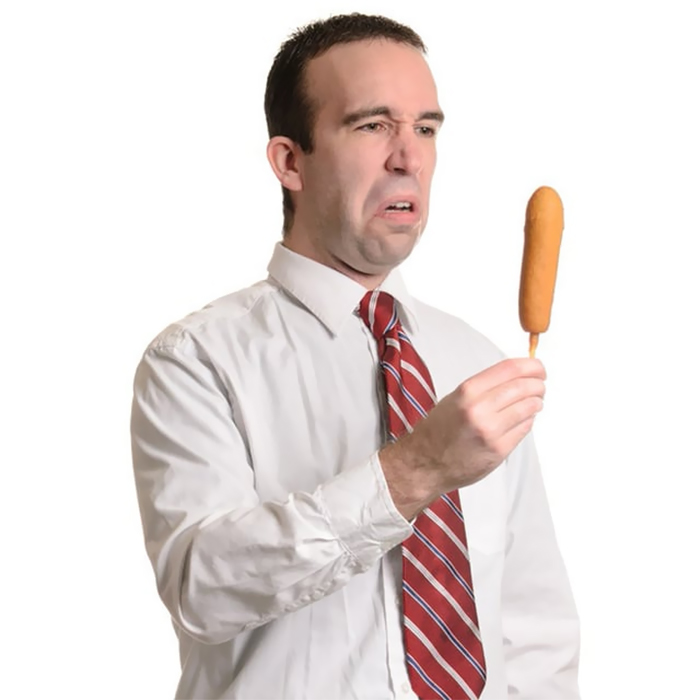 Man Disgusted By Corndog