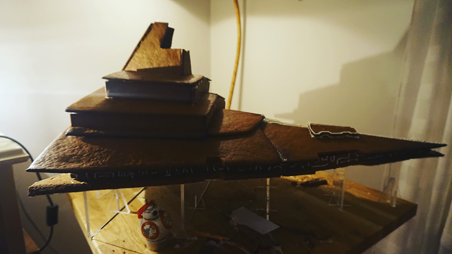 gingerbread imperial star destroyer star wars bakery 3 5a3cd030d1a62  880 - This Giant Gingerbread Imperial Star Destroyer Just Put All Gingerbreads To Shame