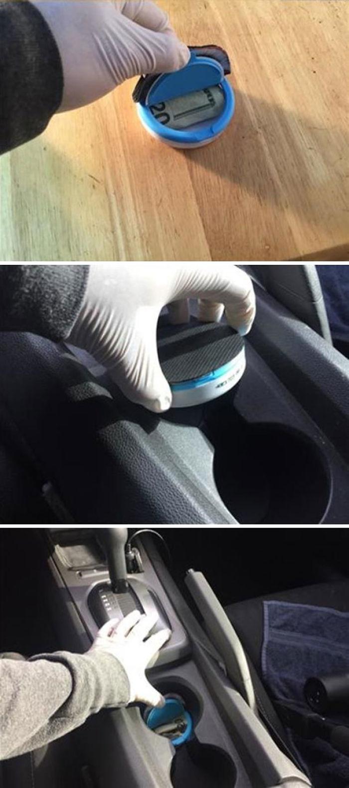 Para esconder cosas en el coche