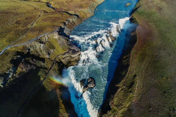 The Most Famous Waterfall In Iceland Gullfoss