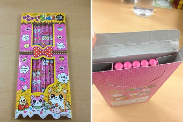 My Wife Bought Some Pencils For Our Elementary School Where We Teach English In South Korea. Then She Opened The Box