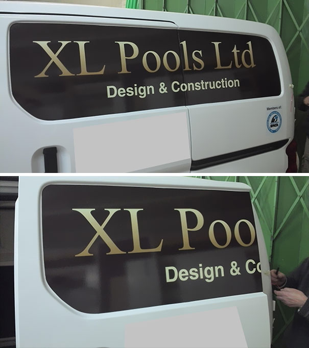I See Those Unfortunate Name Placements On Vans With Sliding Doors All The Time, Never Thought It Would Happen To Me