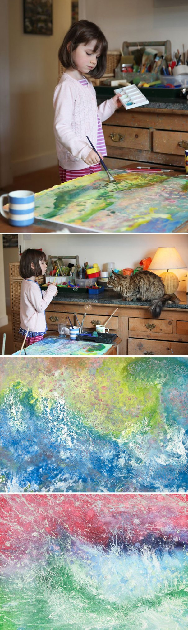 Along With Speech Therapy, Iris Grace's, Who Has Autism, Parents Introduced Her To Painting, Which Is When They Discovered Her Amazing Talent