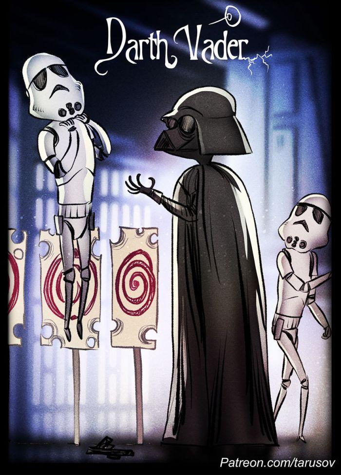 Star Wars In Tim Burton's Style