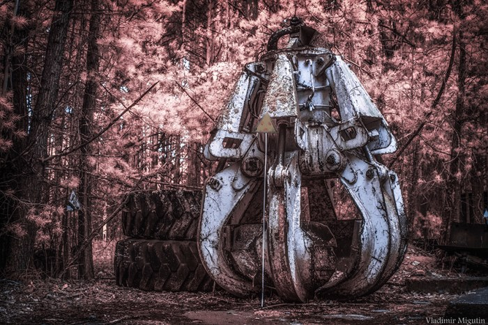 The Bucket (Machine Part) That Was Used To Clean The Roof Of The Failed Reactor After The Fallout, Chernobyl Exclusion Zone