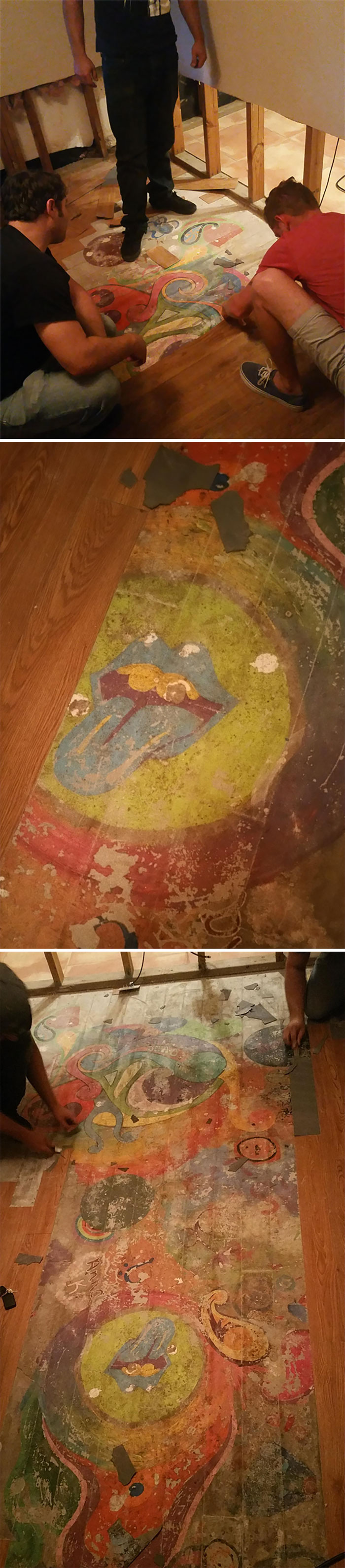 Lost Hippie Mural Found Under My Flooded House