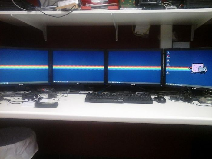 The Best Wallpaper For A 4 Monitor Setup...