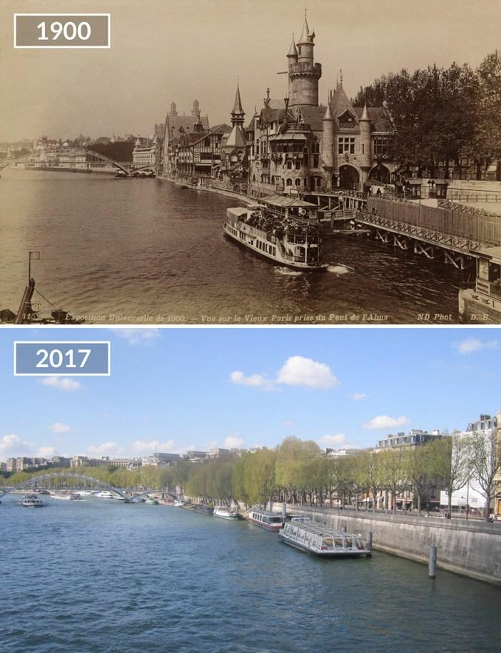 View On Seine From Pont De L'alma