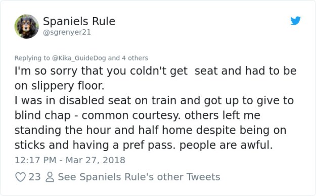 978606841755242496-png__700 Blind Man Left In 'Tears' After Nobody Gave Up Their Seat For Him And His Guide Dog On The Train Design Random