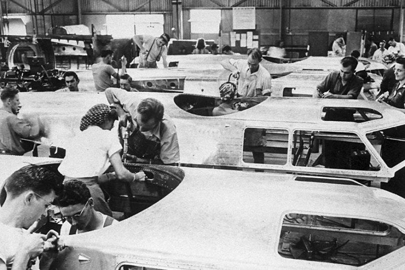 "boeing fake rooftop town world war seattle 18 5aa65574ee6a4  880 - 2ª Guerra: EUA projeta um ""bairro falso"" para eliminar possíveis ataques aéreos"