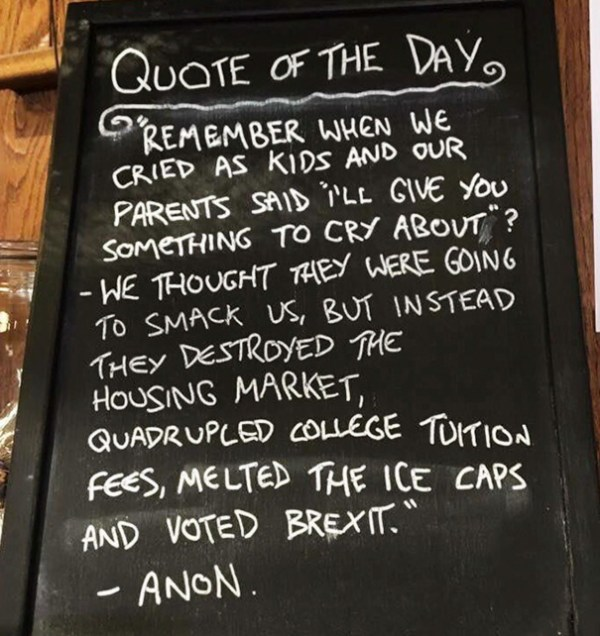 At The Coffee Shop When You Get Hit By This Unexpected Quote Of The Day