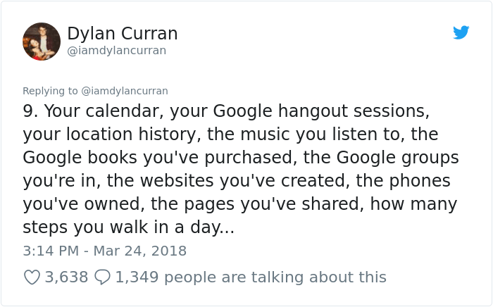 facebook-google-data-know-about-you-dylan-curran-10 The Internet Is In Shock After This Guy's Post Reveals How Much Facebook And Google Knows About You Design Random