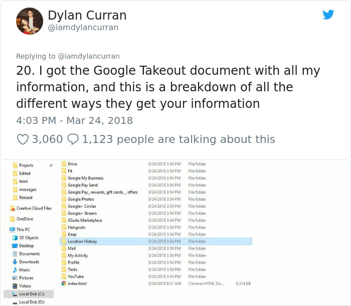 facebook-google-data-know-about-you-dylan-curran-17 The Internet Is In Shock After This Guy's Post Reveals How Much Facebook And Google Knows About You Design Random