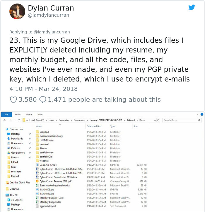 facebook-google-data-know-about-you-dylan-curran-20 The Internet Is In Shock After This Guy's Post Reveals How Much Facebook And Google Knows About You Design Random